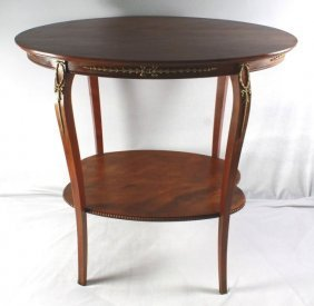 2 Tier French Style Mahogany Table