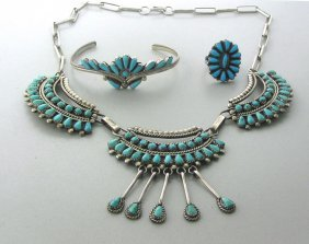 Native American Sterling Turquose Jewelry Lot
