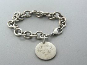 Tiffany & Co Sterling Link Charm Bracelet