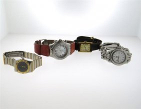 Omega Cartier Technomarine Tag Heuer Watch Lot Of 4