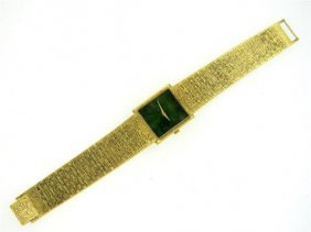 Piaget 18k Gold Nephrite Dial Manual Wind Watch