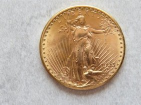 1923 D Saint Gaudens 20 Dollar Double Eagle Gold Us