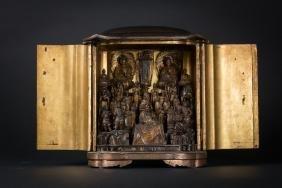 Arte Giapponese A Buddhist Altar Japan, 19th Century .