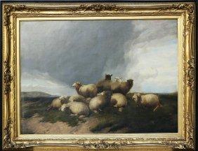 THOMAS SIDNEY COOPER - Gregge In Un Paesaggio.