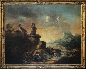 (Scuola Di) ZAIS GIUSEPPE - Paesaggio Con Pescator