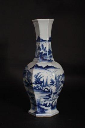 Chinese Antique Hexagonal Shaped Vase