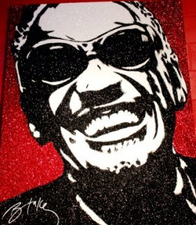 Original Ray Charles Crystal Art By Blake Ballard
