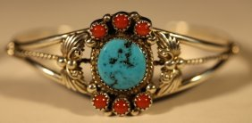 Running Bear Shop Sterling Silver Turquoise Bangle