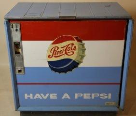 Pepsi Coin Operated Lift Top Pop Dispenser