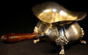 English Sterling Silver Footed &handled Sauce Boat
