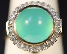 14kyg, Diamond, & Cabochon Ring