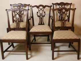 Mahogany Dining Set Of Five Chairs