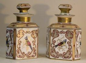 Old Paris Pair Flacons