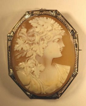 Sterling Silver Mounted Antique Cameo