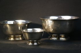 Paul Revere Silver Plate Petite Bowl Lot