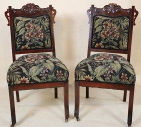 Victorian Antique Walnut Side Chairs