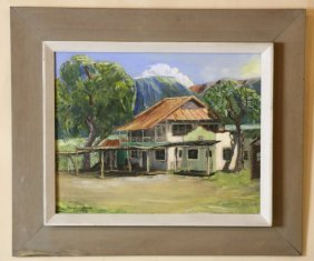 Maureen Combs Signed 1969 Oil Painting