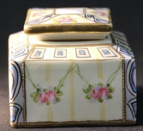 Nippon Hand Painted Dresser Box