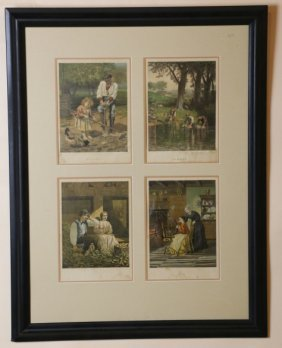 Colored Bookplate Framed Grouping