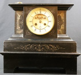 French Antique Open Escapement Marble Clock