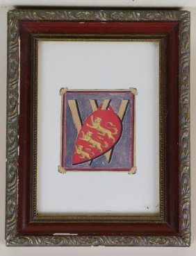 Framed Watercolor Coat Of Arms