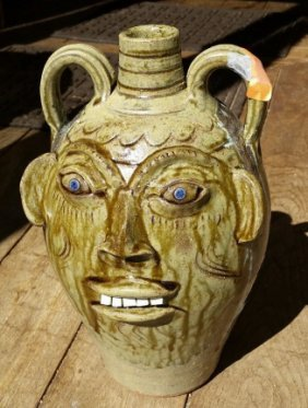 Vintage Pottery Face Jug