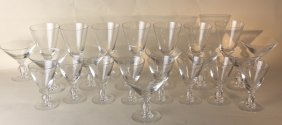 Hawkes Hand Blown Stemware Grouping