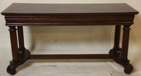 Empire Form Mahogany Bench