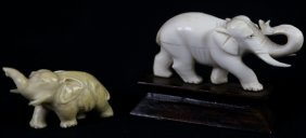 Antique African Hand Carved Elephants