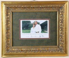 George Bush Signed Campaign Momento