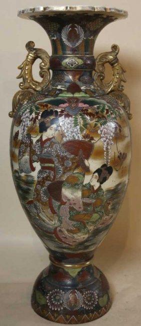 Japanese Antique Palatial Satsuma Vase