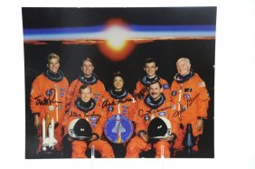 Nasa Discovery Signed Group Portrait