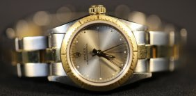 Rolex Ladies 18kyg / Stainless Oyster W/ Box
