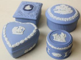 Wedgwood Jasperware Dresser Box Grouping