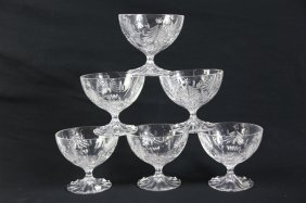 Signed Crystal Christmas Stemware Grouping