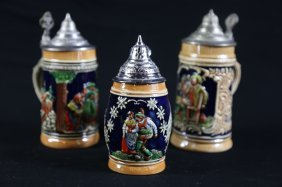 Vintage German Stein Grouping