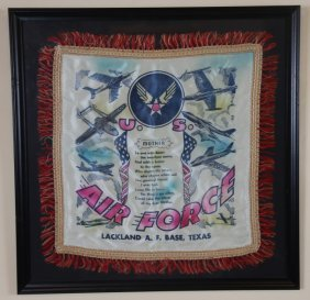 """U.s. Air Force """"mothers"""" Fringed Textile"""