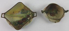 Japanese Antique Nippon Handled Bowls