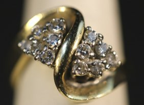 14kyg & Diamond Ladies Cluster Ring