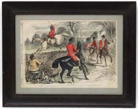 Hunting, The Illustrated London News 1856 After Swain,
