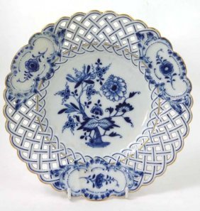 An Early 20thC Meissen Blue And White Cabinet Plat
