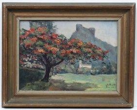 Jose Maria De Almeida (1906-1995) Brazil, Oil On
