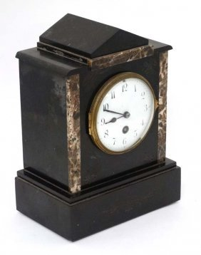 Mantel Clock : A Slate Cased Mantel Clock ( Time Piece