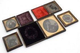A Collection Of 5 Victorian Daguerreotype Portrait