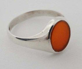 A Hallmarked Silver Gentleman's Signet Ring Set With