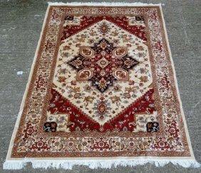 Carpet / Rug : A Machine Made Heriz Carpet, The Beige