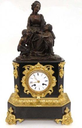 S. Devaulx , Palais Royal Clock : A 19thc French Bronze
