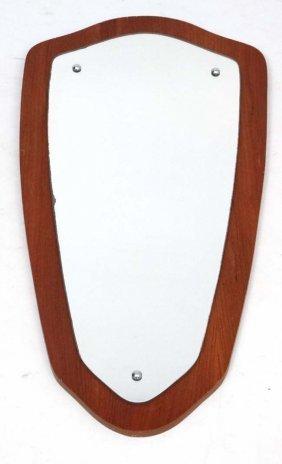 Vintage Retro : A 1960's Teak Framed Wall Mirror Of