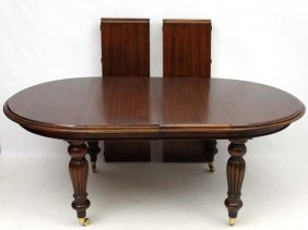A Late 20thc Victorian Style Mahogany D-ended Wind Out