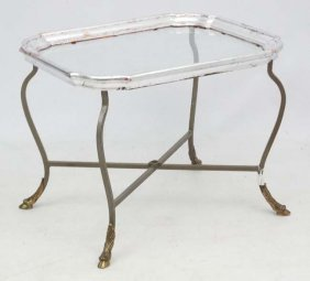 Mid Century / Hollywood Regency : A French Silver Tray